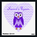 """Owl Wall Decals: Purple Owl Wall Decal<br><div class=""""desc"""">Owl Wall Decals</div>"""