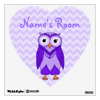 Owl Wall Decals: Purple Owl Wall Skin