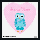 """Owl Wall Decals: Teal Owl Wall Decal<br><div class=""""desc"""">Owl Wall Decals</div>"""