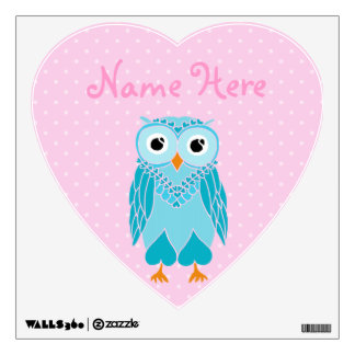 Owl Wall Decals: Teal Owl Wall Decal