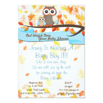 Owl Watch Over Baby Shower Birthday Party Invite