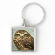 Owl Watercolor Keychain