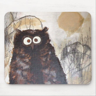 Owl Watercolor Painting Mousepads