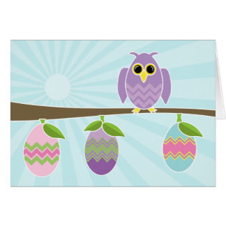 Owl Ways Thinking of You at Easter Fun and Cute Card