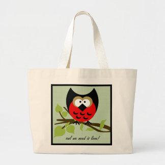 Owl we need is love tote jumbo tote bag