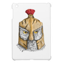 Owl Wearing Spartan Helmet Tattoo Case For The iPad Mini
