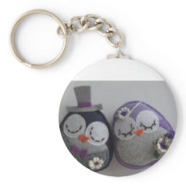 owl wedding keychain