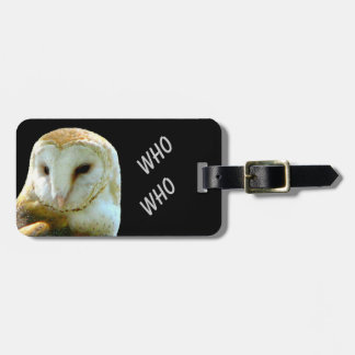 Owl Who Who Tag For Luggage