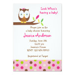 Owl Whoo Baby Shower Birthday Party  Invitations
