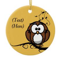 Owl Whooo Ceramic Ornament