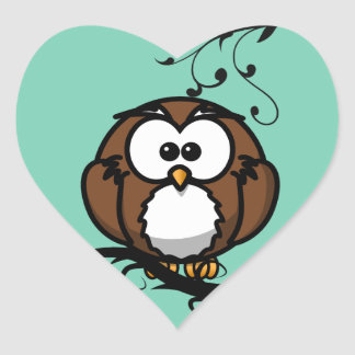 Owl Whooo Heart Stickers