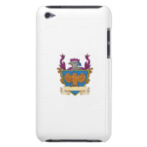Owl Wings Spread Knight Helmet Drawing iPod Touch Cover