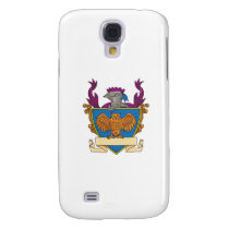 Owl Wings Spread Knight Helmet Drawing Samsung S4 Case