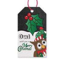 Owl Wish you a Merry Christmas Gift Tags