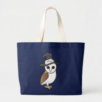 Owl Witch Large Tote Bag