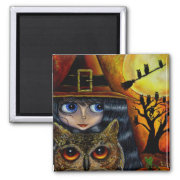 Owl Witch magnet