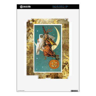 Owl Witch Moon Victorian Halloween Skins For iPad 2