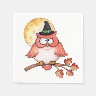 Owl Witch - Napkins Paper Napkin