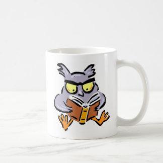 Owl with a Book Coffee Mug