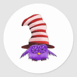 Owl with a Hat Sticker