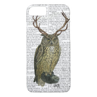 Owl with Antlers plain 2 iPhone 7 Case