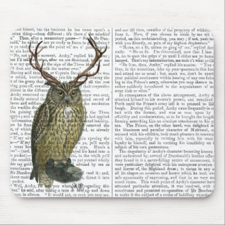 Owl with Antlers plain 2 Mouse Pad