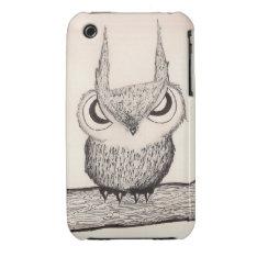 Owl With Attitude - Hard Case at Zazzle