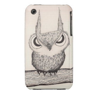 Owl with Attitude - Hard Case iPhone 3 Covers