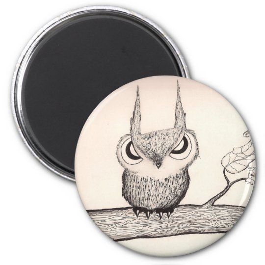 Owl-With-Attitude! - magnet