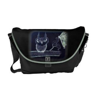Owl with Attitude - Rickshaw Messenger Bag