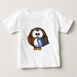 Owl with Calculator, math, student, accounting, Baby T-Shirt