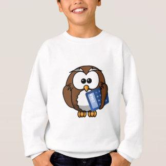 Owl with Calculator, math, student, accounting, Sweatshirt