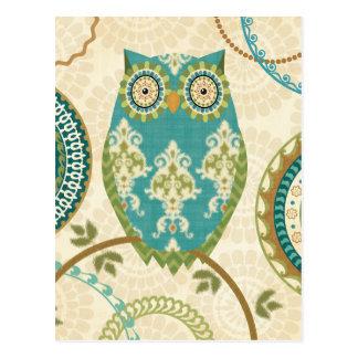 Owl with Circular Patterns Postcard