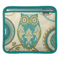 Owl with Circular Patterns Sleeve For iPads