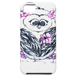 Owl with flowers iPhone 5 case