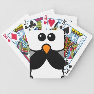 Owl with Handlebar Mustache Moustache Card Deck
