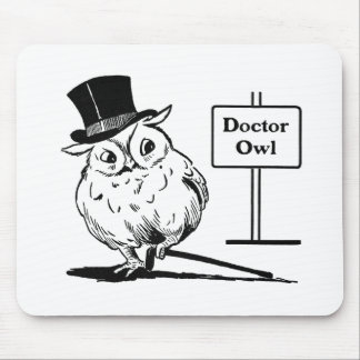 Owl With Hat and Cane Mouse Pad