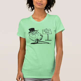 Owl With Hat and Cane T Shirt