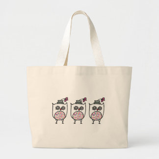 Owl with Hat Shopping Tote Jumbo Tote Bag