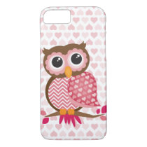 Owl With Hearts iPhone 8/7 Case