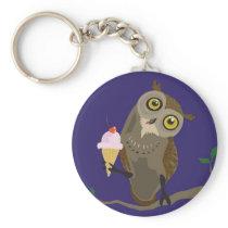 Owl with IceCream keychain
