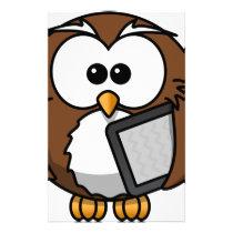 Owl with its shelf stationery