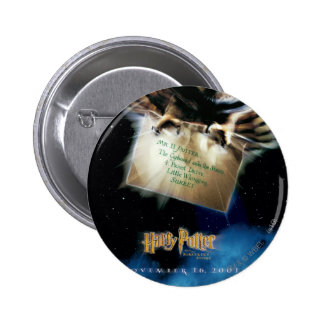 Owl with Letter Movie Poster 2 Inch Round Button