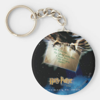 Owl with Letter Movie Poster Key Chain
