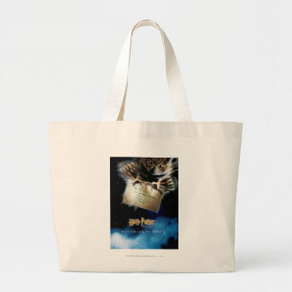 Owl with Letter Movie Poster Large Tote Bag