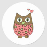 Owl WIth Love Stickers