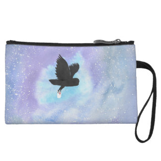 Owl With Mail Mini-Clutch Wristlet