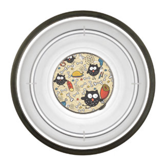 Owl with Meat Pattern Bowl