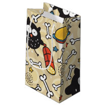 Owl with Meat Pattern Small Gift Bag