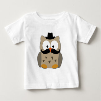 Owl with Mustache and Hat Baby T-Shirt